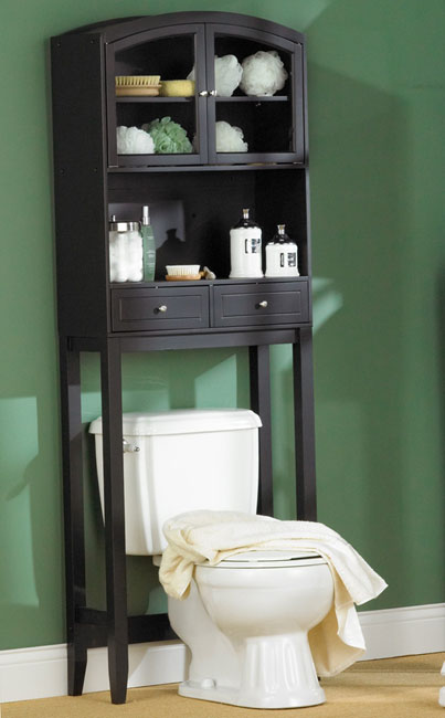 KEEP THE BATHROOM TIDY WITH OVER TOILET BATHROOM SHELVES AND